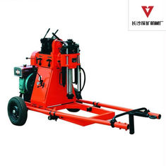 China Portable 150m Soil Test Geotechnical Drill Rig For SPT Test , 2 Wheels Trailer supplier