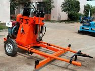 China Geotech And Rotary Portable Water Drilling Rig Hydraulic Feeding Structure factory