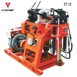 Oil Hydraulic Feed System Portable Drilling Rig With Mud Pump Integrated