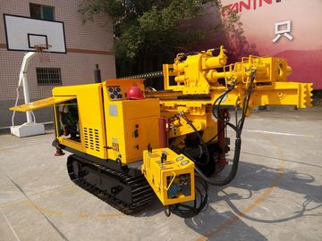 Portable Rock Hydraulic Rotary Crawler Drilling Rig With Cap And Air