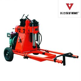 Exploration Core Geotech Portable Drilling Rig Equipment With 2 Wheels Trailer