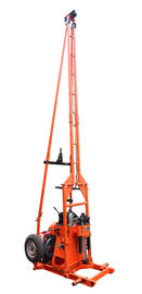 Electric Borehole Portable Water Drilling Rig / Trailer Mounted Drill Rig