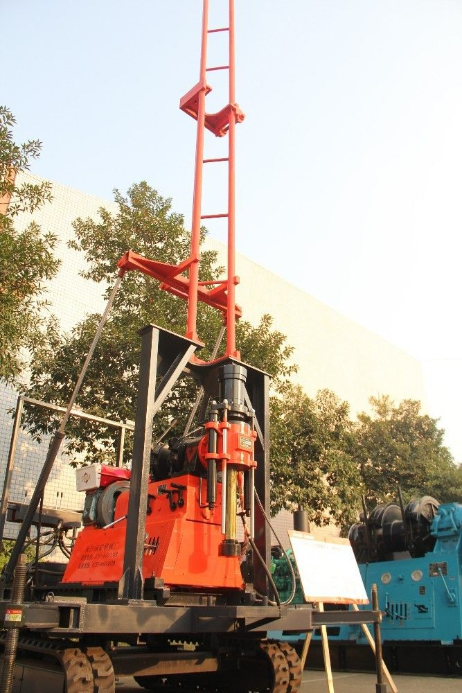 Crawler 200m High Speed Hydraulic Drilling Rig Equipment Twin Cylinder