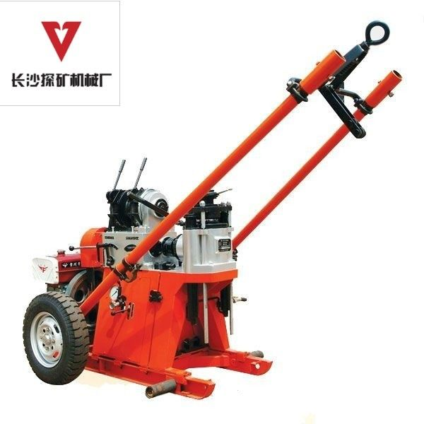 Portable Small Deep Water Well Drilling Rigs 2 - Wheels Trailer