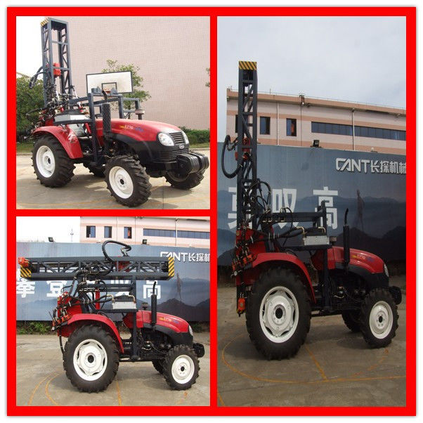 100m Rock Trailer Mounted Water Well Drilling Rigs / Hydraulic Rig